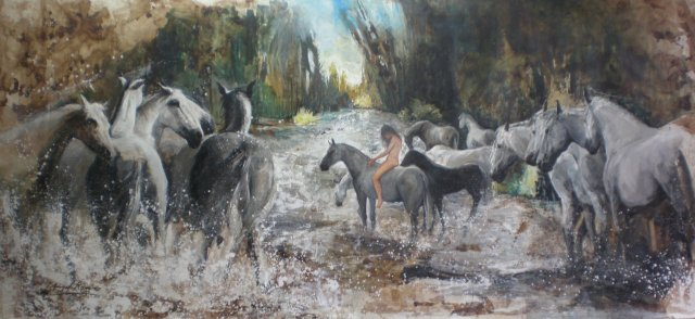 01 Amazona con Caballos