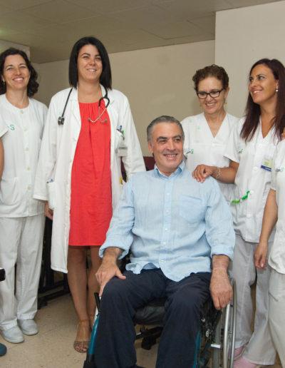 José-Ángel-el-día-de-su-cumpleaños-en-parapléjicos-con-su-equipo-médic