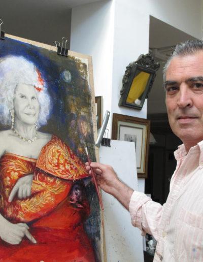José-Ángel-pintando-La-duquesa-de-Alba