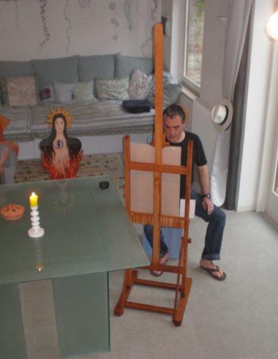 José-Ángel-pintando-en-la-casa-de-Venezia