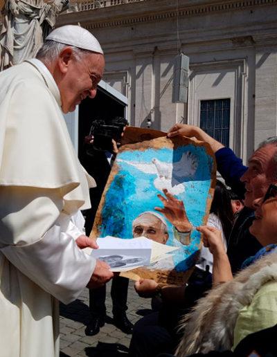 El Papa Francisco y José Ángel. 16-05-2018