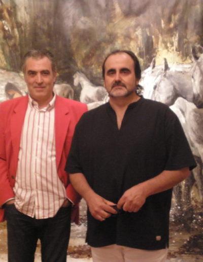 José-Ángel-y-Ernesto-Sevillapintor