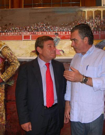 José-Ángel-y-Matías-Gonzalez-presidente-de-la-Plaza-de-toros-de-Bílbao