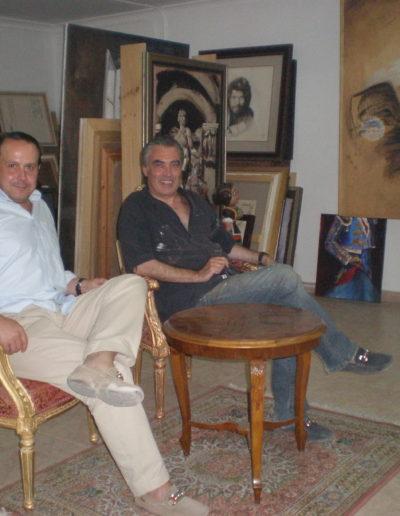 José-Ángel-y-Miguel-Ángel-Hoyos-en-su-estudio